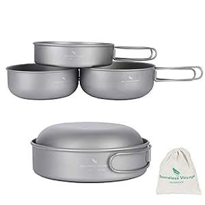 Amazon.com: iBasingo - Juego de 3 cuencos de titanio para ...