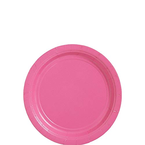 Amscan Pink Paper Plate Big Party Pack, 50 Ct. ()