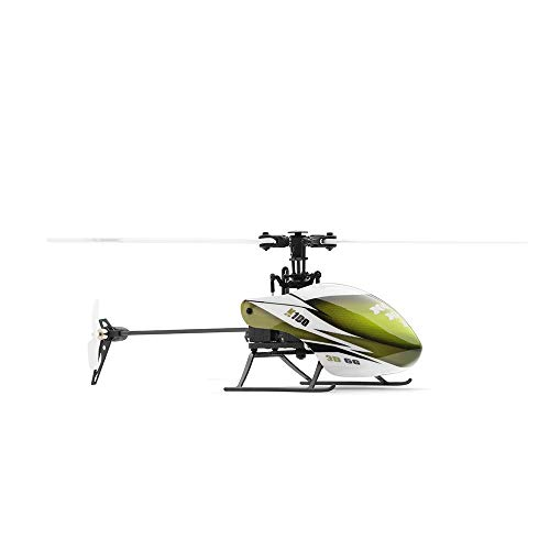- Wotryit XK K100 6CH 3D 6G System RTF RC Helicopter Built-in Gyro Super Stable Flight Green Outdoor Kids