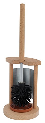 REDECKER Nylon Toilet Brush Stand Made with Oiled Beechwood, 16-7/8-Inches by REDECKER (Image #2)