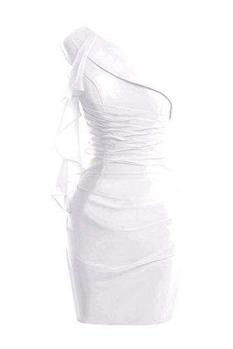 (Dora Bridal Women's Short Chiffon Summer Mother Dresses with Ruffles 2016 US8 White )