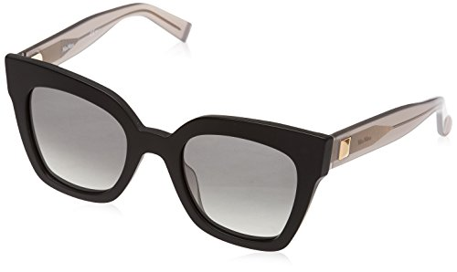9a5ce5cb86 Max Mara Women's Mm Prism Iv Square Sunglasses, Black Dark Grey, ...