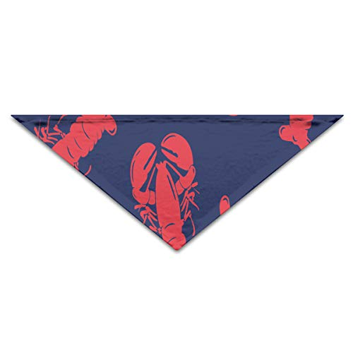 Red Lobster in Deep Blue Pattern Dog Bandana