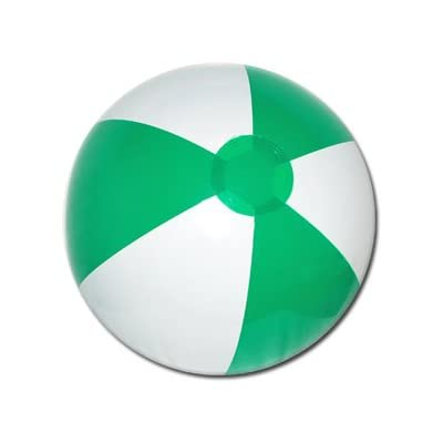 Beachballs - 16'' Green & White Beach Ball: Sports & Outdoors