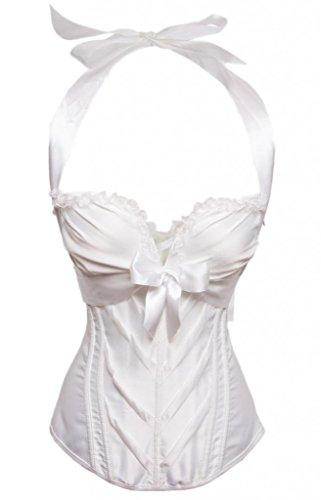 - Alivila.Y Fashion Women's Halter Overbust Corset 2046-White-2XL