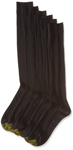 Gold Toe Mens Athletic Cotton Crew Socks 6-Pack / 6 Free Sock Clips Included