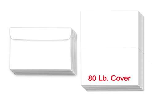 Blank Bar Mitzvah Invitations - Greeting Cards Set - 8.5 x 5.5