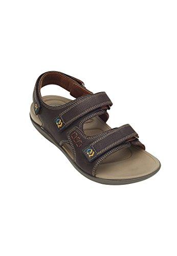 Belldilar Walk Support 2 Härte Level Zwischensohle, 3-Strap Sport Slingback Sandale für Männer Braun