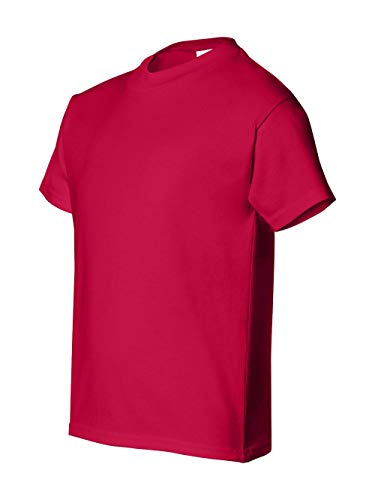 Hanes Youth 5.2 oz. ComfortSoft� Cotton T-Shirt - DEEP RED - L