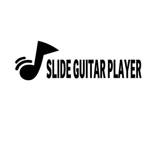SLIDE GUITAR PLAYER Music Musician Decal Sticker