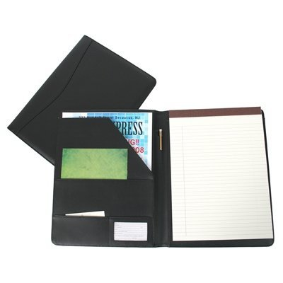 Genial Royce Leather Portfolio Padfolio, With Inserted Note Pad And Folder