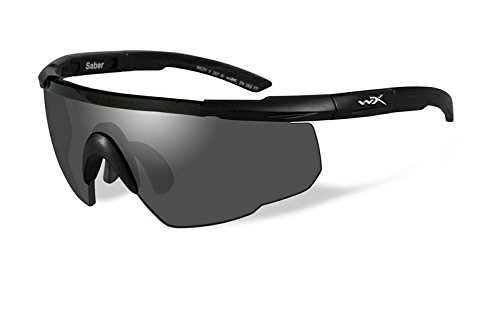 Wiley X Saber Advanced Sunglasses, Smoke Grey, Matte Black (Best Military Tactical Sunglasses)