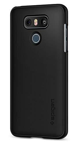 Spigen Thin Fit LG G6 Case / G6 Plus Case with Premium SF Coated Non Slip Matte Finish Surface for Excellent Grip for LG G6 (2017) / LG G6 Plus - Black (Renewed)