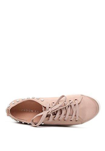 Pink Pink Sneakers Rag London London Sneakers Rag Donna Donna London Rag TqvSrq5