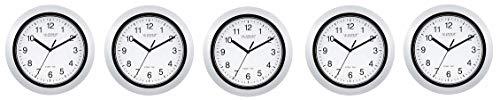 La Crosse Technology Atomic Analog Wall Clock, 10 , Silver 5