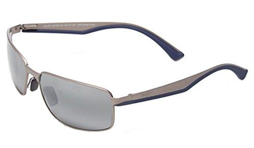 Maui Jim Unisex Backswing Satin Grey/Neutral Grey One ()