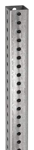 Tapco 1603-00004 Galvanized Steel Square Post, 12' Length x 2