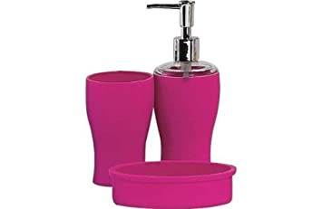 colourmatch bathroom accessories set funky fuchsia