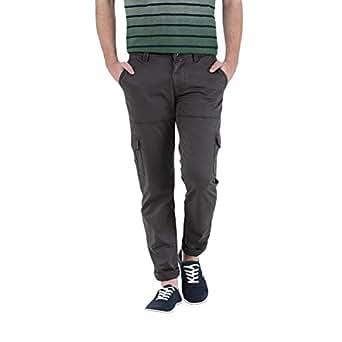 Basics B1240 Mid Low Rise Casual Cargo Pants for Men - 40 EU, Dark Gray