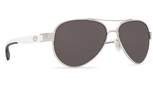 Costa Del Mar Loreto Sunglasses Palladium w/White/Gray - Sunglasses.com Costa