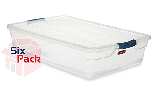 Rubbermaid File Tote (Rubbermaid Home 3Q2900CLMCB 41 Quart Latching Lid Storage Tote Pack of)