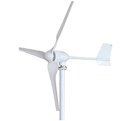 HUKOER Wind Turbine Generator 600W-1000W DC 12V/24V/48V High Efficiency Wind Green Energy 3 Blades Perfect for Workshop / Garage / coastal zone / Mountain ranges / Agricultural fields