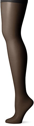 CK Women's Active Sheer Pantyhose with Control Top, Black, Size B