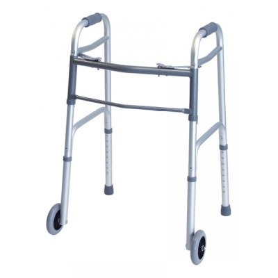 GF Health 716270A-4 Everyday Dual Release Walker with 5'' Wheels, Adult (Pack of 4)