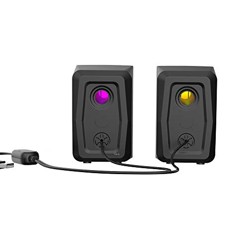 Caixa De Som Havit SK563 P2 3.5mm Estéreo 2.0 3W*2 RGB Preto