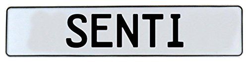 Vintage Parts 750933 White Stamped Aluminum Street Sign Mancave Wall Art (Senti)