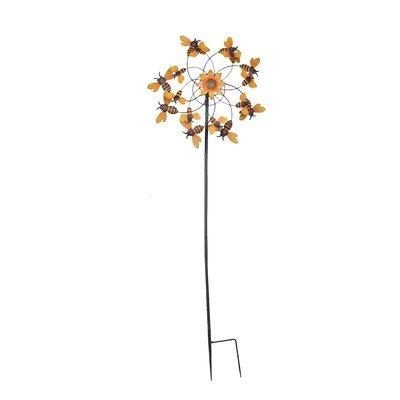 "SunJoy 110309047 59"" Bumble Bee Kinetic Wind Catcher Gard..."