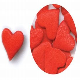 Jumbo Red Heart Sprinkles, 2.4 Ounce Package ()