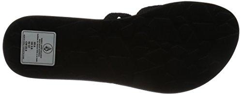 Black Sandal Flop Women's Flip Active New School Volcom 74SBnzw