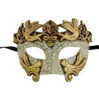 NEW Laser Cut Venetian Style Halloween Masquerade Mask for Costumes - Elegantly and Finely Detailed Egyptian Inspired- Gold -