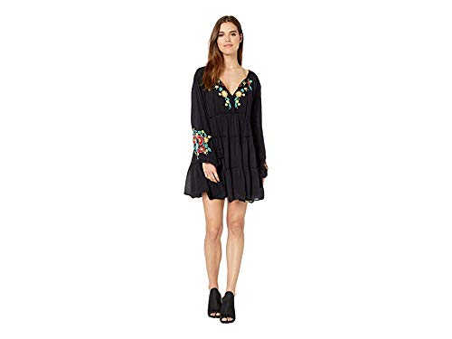 Free People Women's Spell on You Embellished Mini Dress Black X-Small