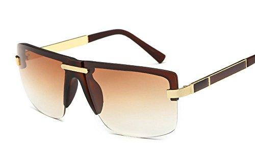 Monobrowlines Sunglasses Brand Designer 2017 Flat Top Browline Big Frame - In Brands World Top The Sunglasses
