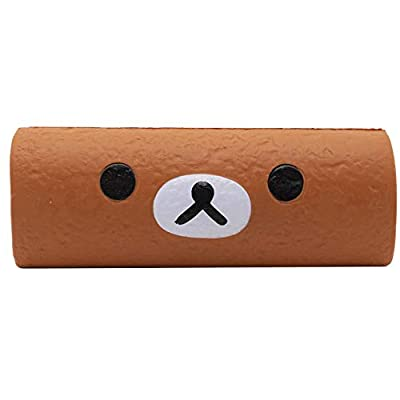 """Rilakkuma by San-X Meets Chocolate Cake Roll Slow Rising Squishy Authentic Licensed Product – 7"""": Toys & Games"""