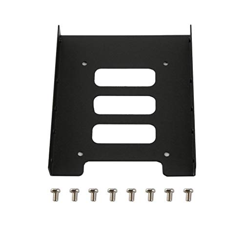 Nexttechnology SSD HDD Metal Adapter Mounting 2.5 Inch to 3.5 Inch Bracket Hard Drive Holder for PC Laptop Black Hard Disk Drive