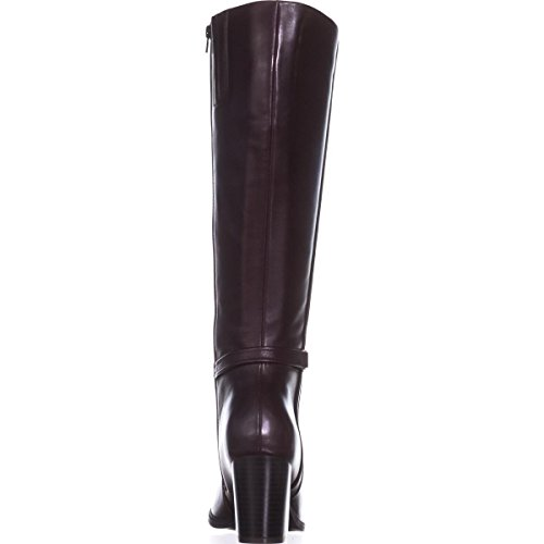 Toe Raiven2 Closed Oxblood Leather Fashion Womens High Knee Bernini Giani Boots XEOwqan