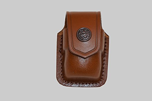 ALSM037 Handmade Brown Leather Single Speed Loader Carrier/case/Pouch Belt Clip Smith&Wesson