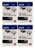 (Alps Printer Ink 106057-00 Micro Dry Black, Pack/4)