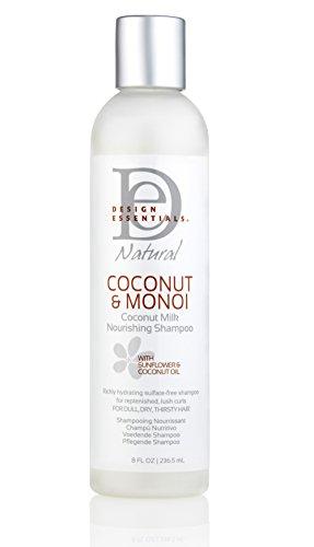Design Essentials Natural Coconut Milk Sulfate-Free Nourishing Shampoo-Coconut & Monoi Collection, 8oz.