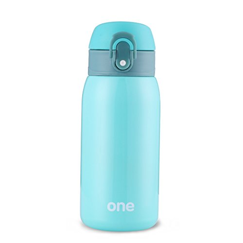 Mini Water Bottle for Kids& Adult, Vacuum Insulated Bottle, Travel Coffee Cup, Stainless Steel Thumbler,Sweet Pure Color Water Bottle for Girls& Office Ladies, Pure - 320ml/11oz (Green)