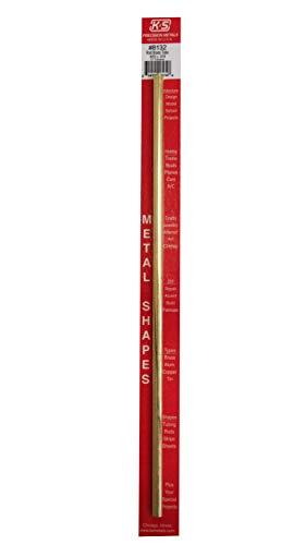 K & S PRECISION METALS 8132 9/32 x 12 Round Brass Tube (Round Brass Tube)