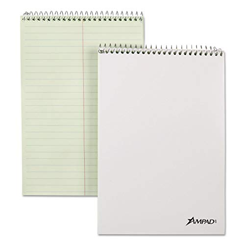 Ampad Spiral Steno Book, Gregg, 6 x 9, 20 lb, Green Tint, 70 Sheets, 6/Pack - 25476 (Pack of 2) by Ampad (Image #1)