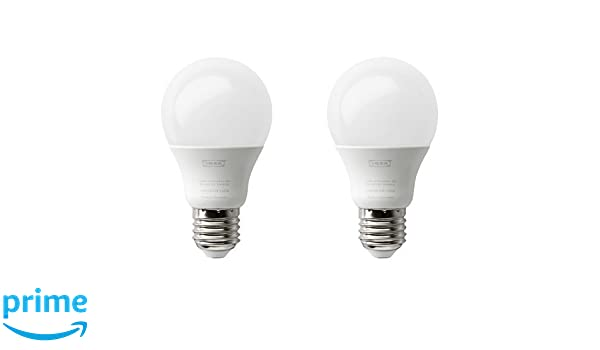 IKEA ryet Bombilla LED E27, Globe, 600 lúmenes), color blanco: Amazon.es: Iluminación