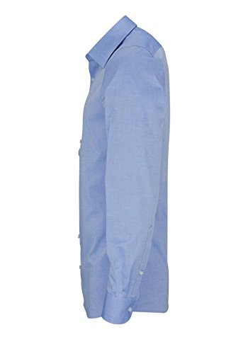 Body Coupe Fit Fit Olymp 5 Level Bleu Longues Homme Manches Chemise vfymYb6gI7