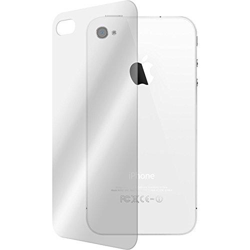 2 x Apple iPhone 4S Pellicola Protettiva Vetro Temperato chiaro protettore retro - PhoneNatic Pellicole Protettive