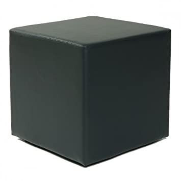Design Sitzwürfel Kubus I Kunstleder Hocker 45x45x45 cm modern in ... | {Hocker modern schwarz 59}