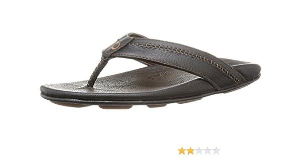 8c3e456c6 OluKai Hiapo Black Black Men s Sandals Black Men s 7 US  Amazon.ca ...